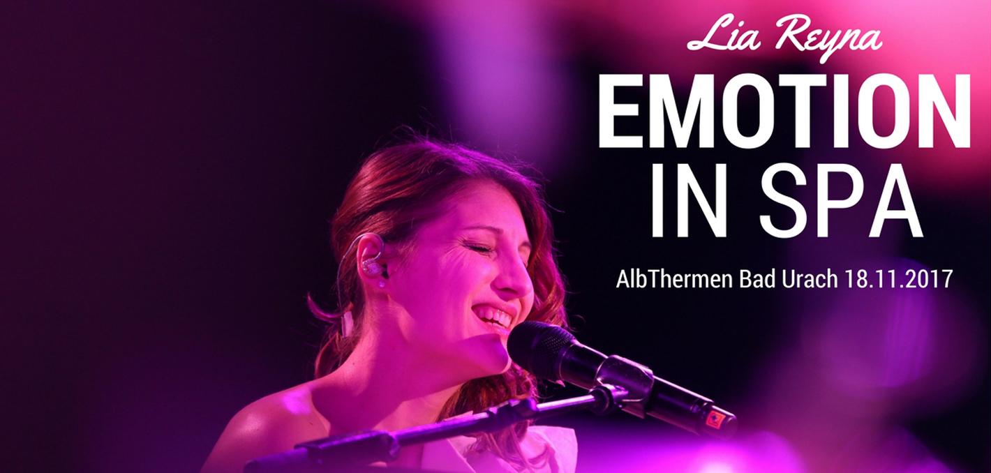 Konzert AlbThermen-Nacht Bad Urach Emotion in Spa mit Lia Reyna