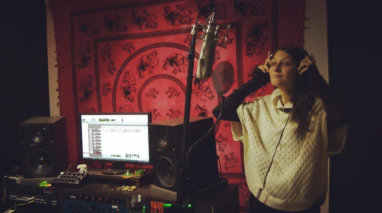 Lia Reyna im Studio